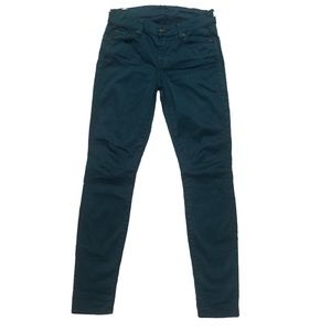7 For All Mankind Jeans - 7 for all Mankind Teal Gwenevere Skinny Jeans